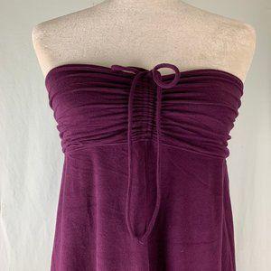 Athleta Purple Strapless Dress Ruched Top 15PE